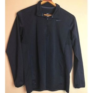 NIKE Therma Fit 1/4 Zip Black Pullover Size Large